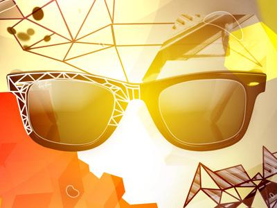 Liquid Wayfarers wayfarer abstract polygon light glasses shades