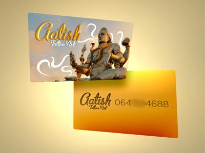 Shiva Tattoo contact card shiva hindu gold contact card