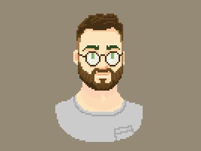 Pascal Pixel Portrait - new glasses