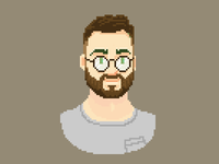 Pascal Pixel Portrait - new glasses