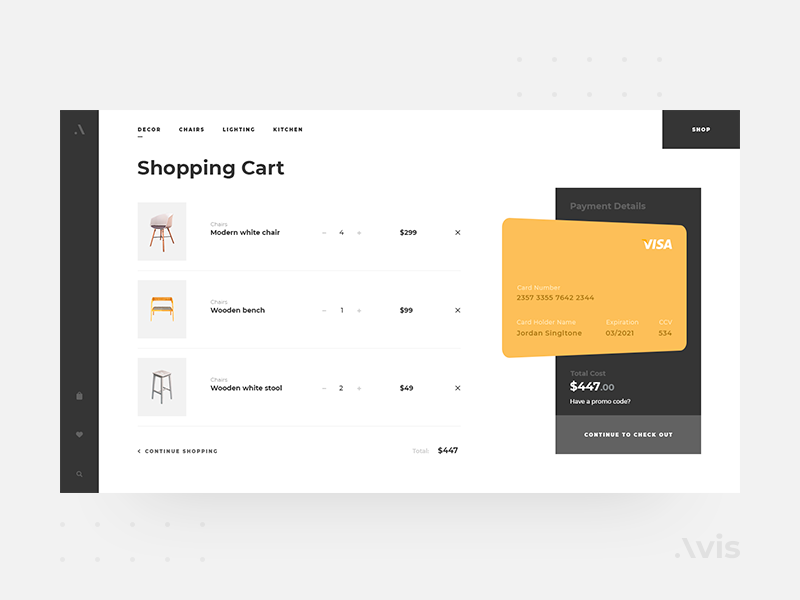 Shopping Cart Page Template Avis Ui Pack By Simplery Design