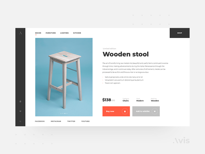 Product page template | Avis UI Pack
