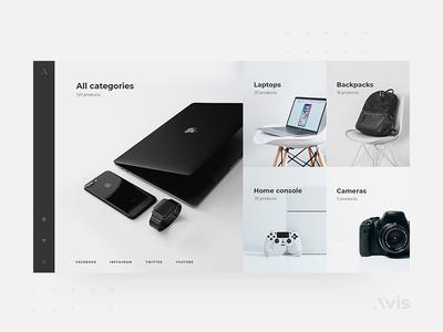 Categories page template | Avis UI Pack