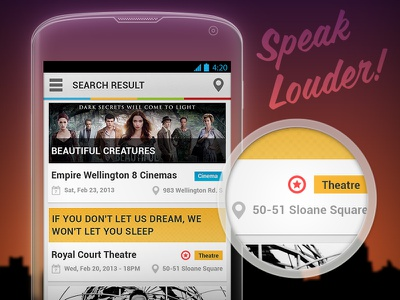 Speak Louder [Android] interface experience user ui ux mobile design designer android app application side menu