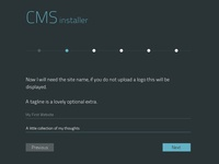 CMS Installer Page 2