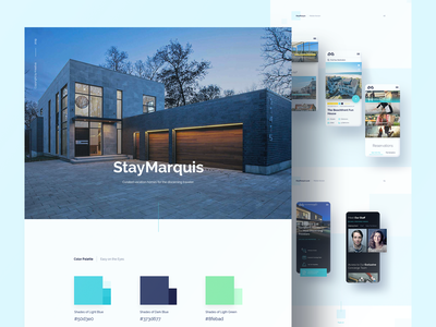 Stay Marquis Case Study responsive design accommodation property ui ux website