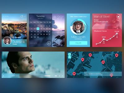 iOS7 inspired UI kit ios7 ios kit ui