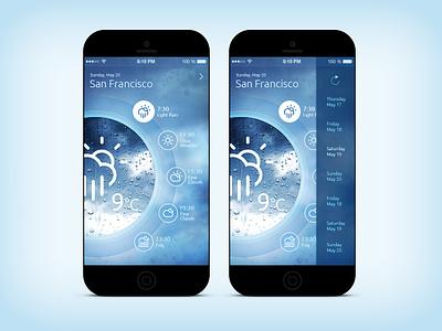 Weather App (Washing Machine) iOS7 ios7 mobile app concept app design interface ui iphone app weather