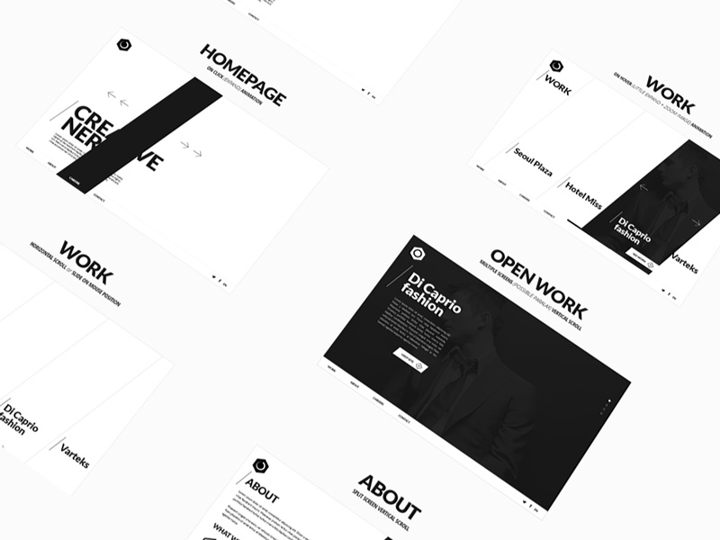 Interactive Agency Website Concept Wireframes concept web design uiux wireframes interactive agency