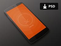 Nexus 5 Mockup PSD