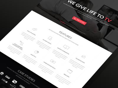 Excitem Homepage Design