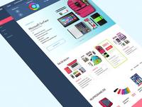 School Supplies - Responsive Website Design