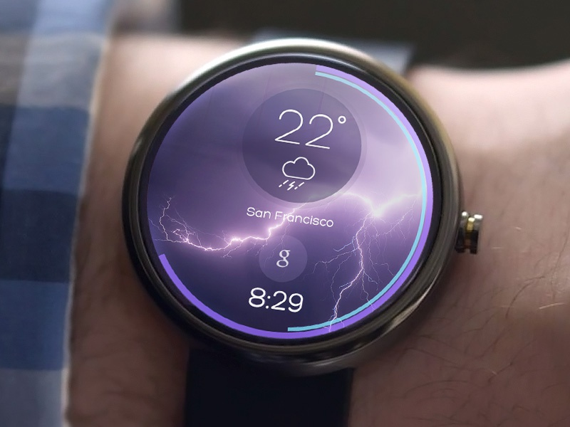 Android Wear - Weather smartwatch weather android wear moto 360 watch