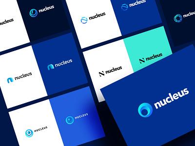Nucleus - Logo Exploration concept exploration payment branding nucleus brand typeface logo