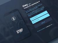 Giggz - Splash Website
