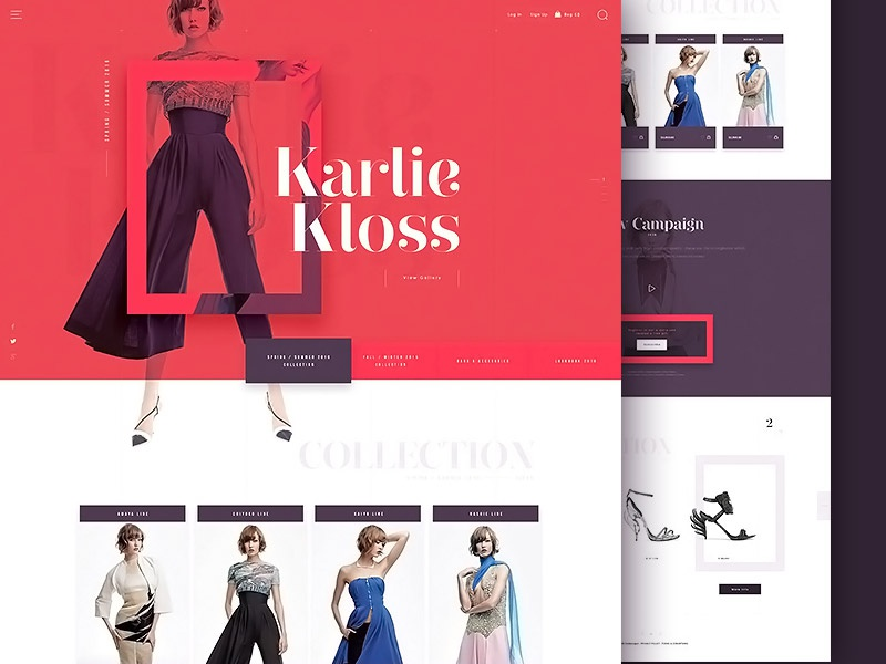 Fashion Butique - homepage animation ecommerce typography modern butique fashion layout website