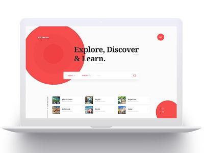 CroSpots - Homepage croatia travel tourism homepage design layout website