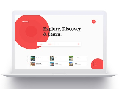 CroSpots - Homepage croatia travel tourism homepage design layout website