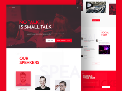 Conference - Homepage homepage template talk event conference design web