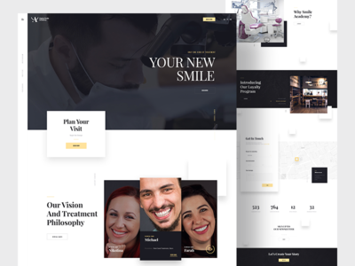 Digital Smile Academy - Homepage parallax homepage website academy smile digital dentist dental