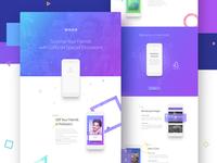 Social Gifting App - Landing Page