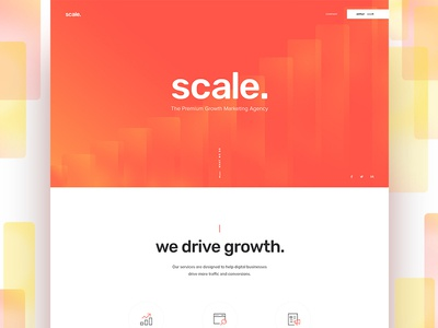 Scale Homepage clean simple web design landing page homepage website agency marketing scale