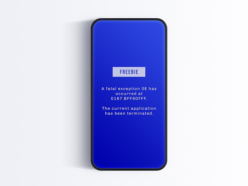 Download Freebie – Blue Mockup of Death