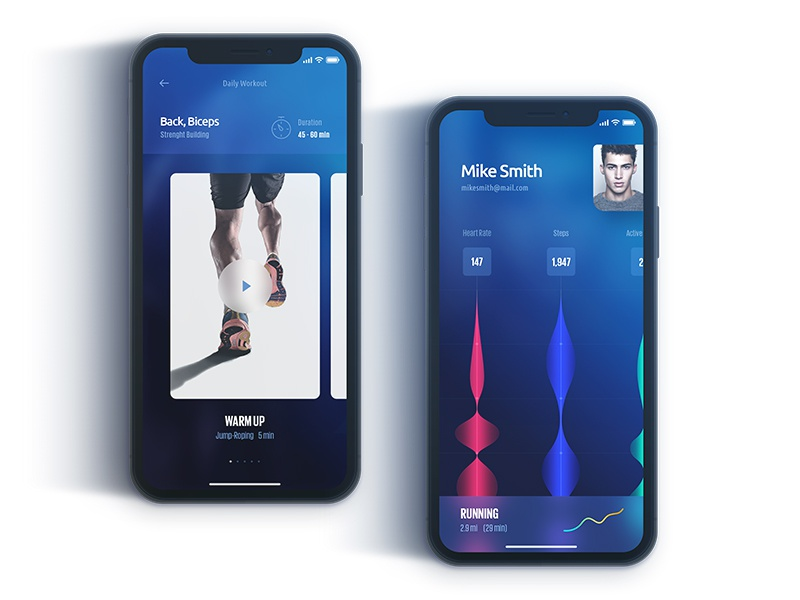 FX app ux ui iphone x tracking workout fitness app ios 11