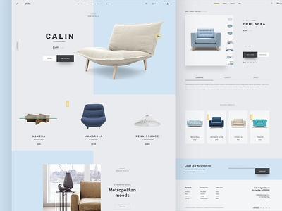 Stile Theme - Homepage bootstrap furniture lamp sofa chair stile bigcommerce ecommerce theme homepage