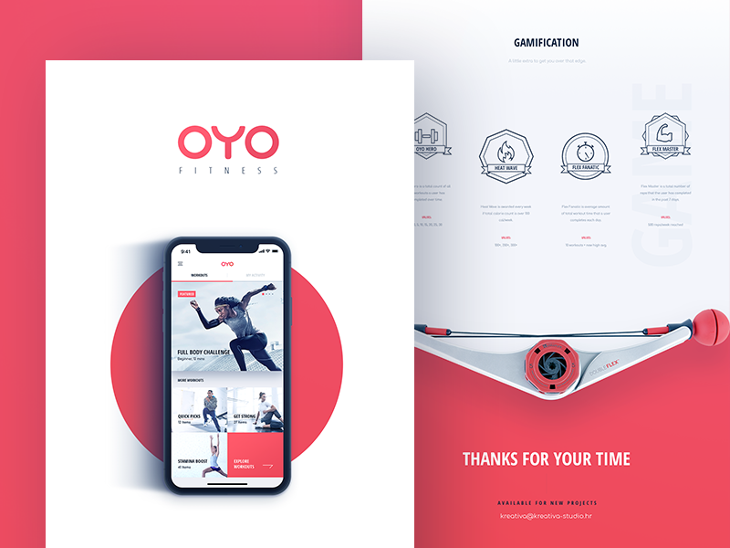 OYO Case Study case study oyo fitness workout iphonex app ios iphone gym