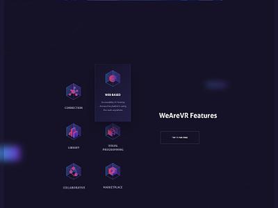 WeAreVR Website virtual reality experience vr homepage website