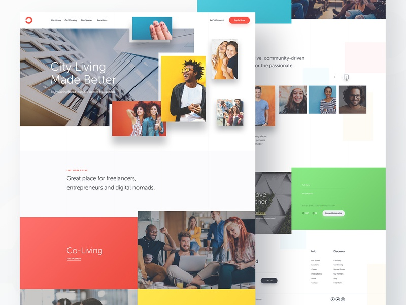 Co-Living Homepage co-working co-living landingpage ux ui layout homepage design photoshop website