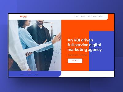 Neil Patel Digital header web landing page ui ux homepage website business roi marketing agency digital seo