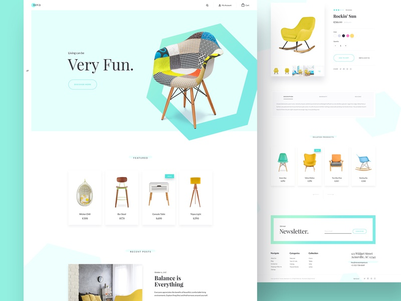 Nova Theme Variation bootstrap store furniture product page chairs homepage nova theme bigcommerce ecommerce