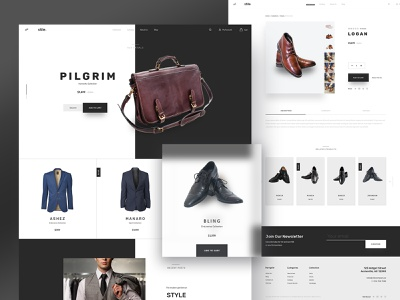 Stile Theme Variation 2 ecommence store stile bootstrap bigcommerce theme ui ux typography homepage design website
