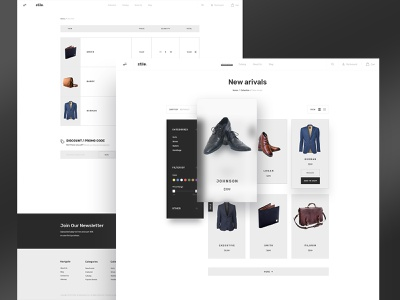 Stile Subpages Variations 2 products cart wallets suits bags filter theme bootstrap bigcommerce ecommerce shop store website web