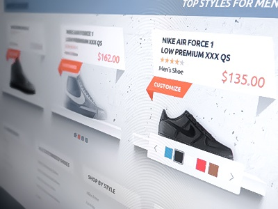 Footwear Webshop concept webshop photoshop web design web site layout footwear shoes nike