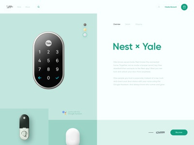 E-commerce product page product landing page ecommerce gadgets tech ux ui website simple clean interface