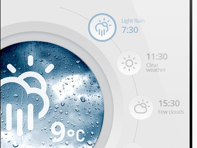 Weather App (washing machine) weather app iphone ui interface app design app concept cloud mobile ios