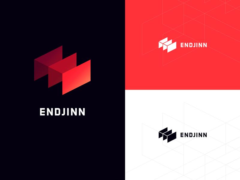 Endjinn Logo app ai type mark typogaphy brand endjinn branding design logo
