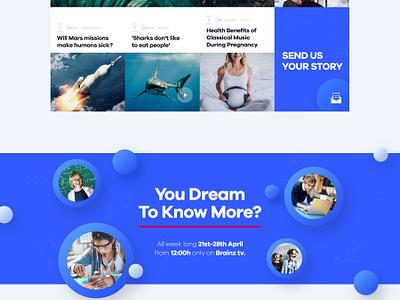 Brainz Homepage v2 education science brainz landing page ux ui website homepage