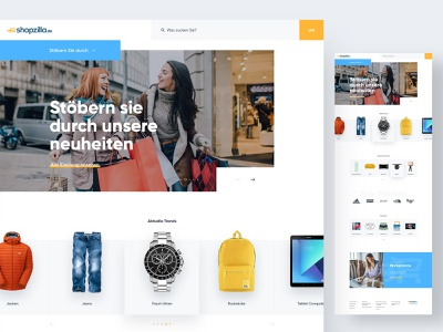 Shopzilla Redesign landing page homepage website web discovery brands shop shopping webshop ecommerce shopzilla