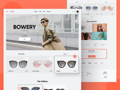 Sunglass Outlet - Homepage outlet glassware glasses sunglasses landing page ui ux design homepage website