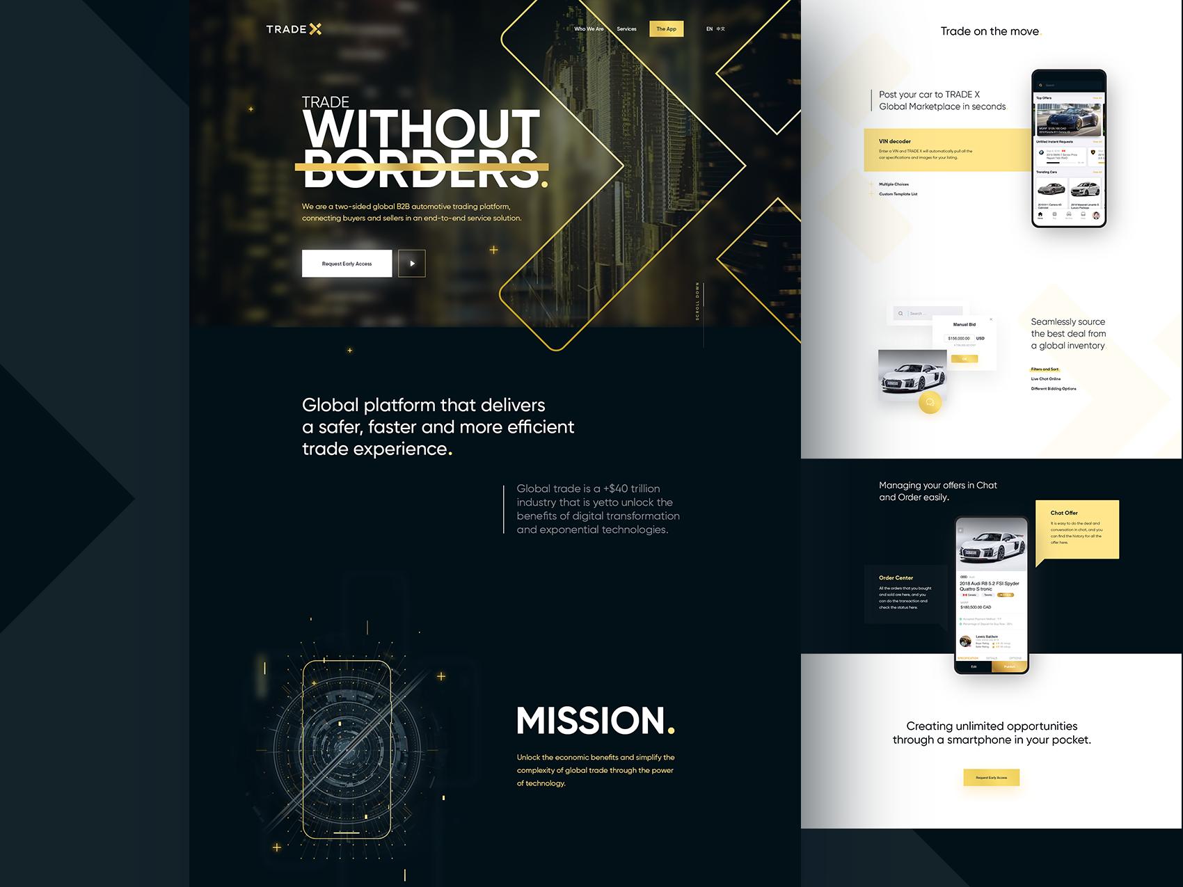 Trade x website gold dribbble