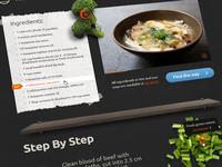 Open recipe layout WIP