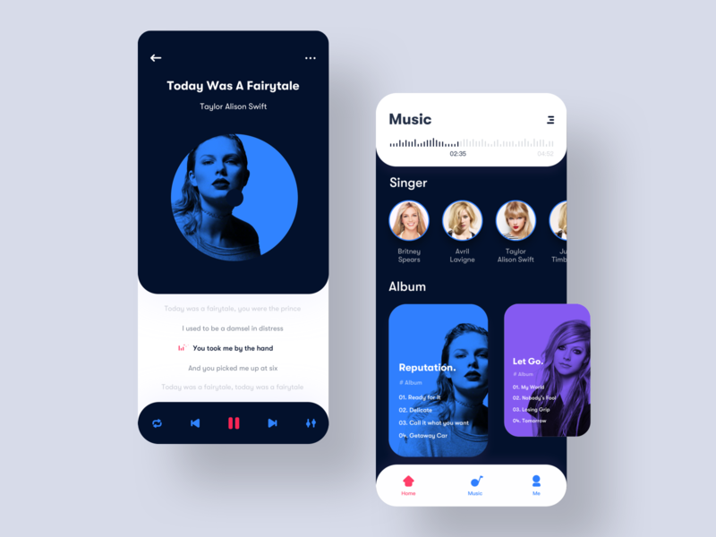 It's a musical interface. I hope you like it. music ui design