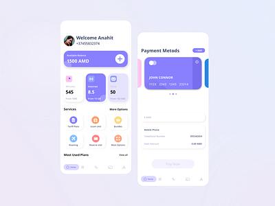 Mobile Network Operator network mobile app mobile minimal design