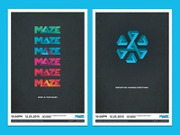 Maze Event posters