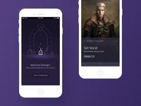 Pathfinder Character App illustraion app design app mobile app design product design ui design ux design ui