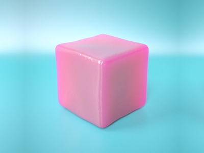 Subsurface twisty cube thing redshift c4d cinema4d 3d animation
